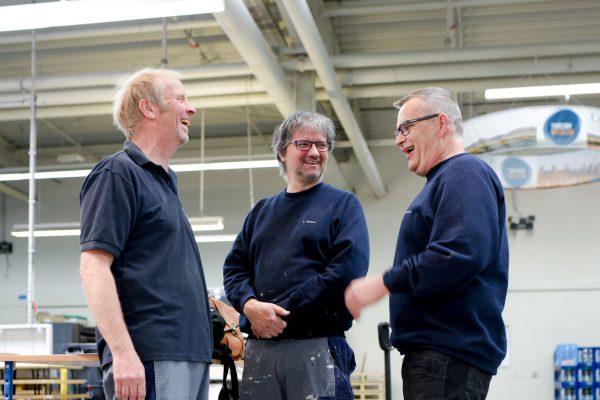 Thomas Hinnenthal, Thomas Ewert, Dirk Westerbarkei - drei Drucker unter sich. Wenn sich dieses Trio angeregt unterhält, funkt man besser nicht dazwischen. Die Geschichten von früher hören wir uns trotzdem alle super gerne an.