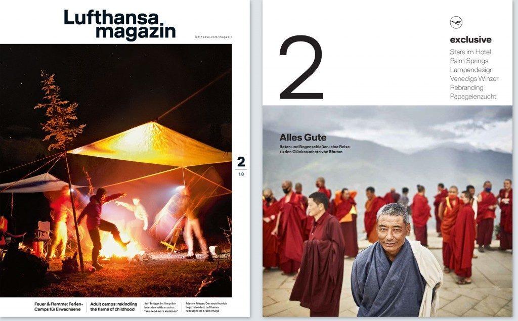 Cover Lufthansa Exclusive und Board Magazin