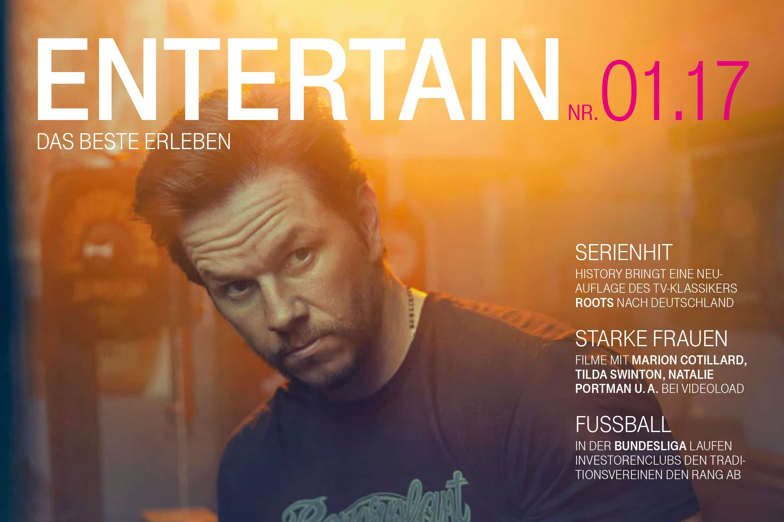 Cover detail of the magazine Entertain