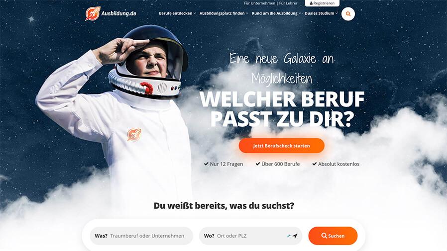 Banner of ausbildung.de - Jetzt Berufscheck starten