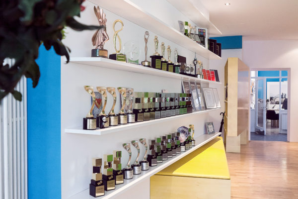 agency awards on the shelves