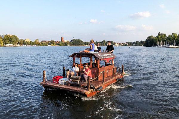 Webguerilla Territory colleagues on the river