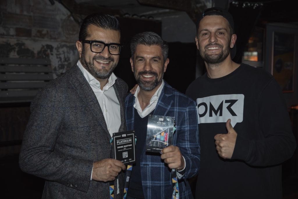 ConCom-Night 2019: Soheil Dastyari (links)., Marius Darschin (Mitte), Philipp Baumgaertel