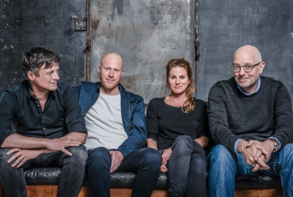 Neues Führungsteam der Territory Webguerillas: Martin Wittmann, Felix Schmidt, Marlies Bayha, Patrick Holtkamp (vlnr.)