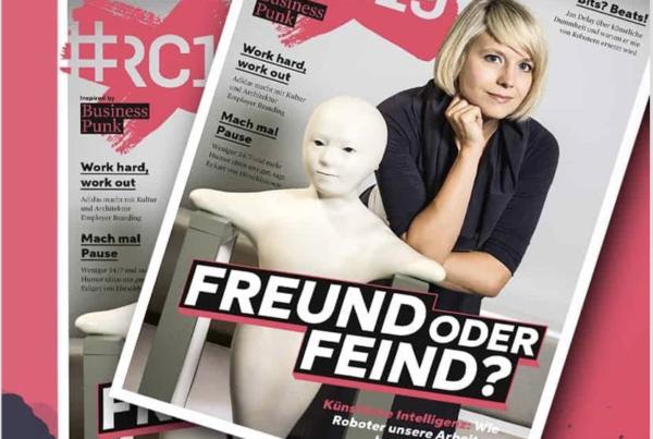 """RC19-Magazin mit dem Titel """"Freund oder Feind?"""" beinhaltet ein Dossier zu Kl-und Mittestandsstudie zu Arbeitgeberkommunikation"""