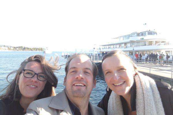 Silke, Anke and Stefan on the road