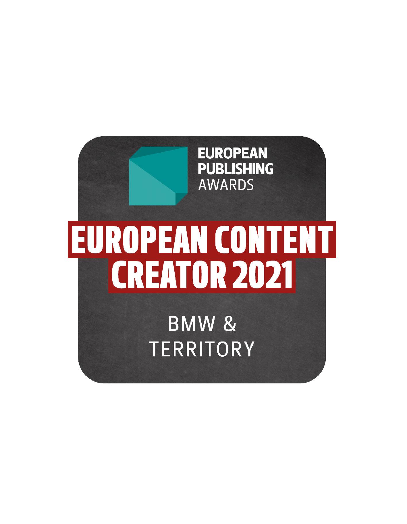 European Publishing Awards: TERRITORY gewinnt einen der vier Hauptpreise und räumt in weiteren Kategorien ab