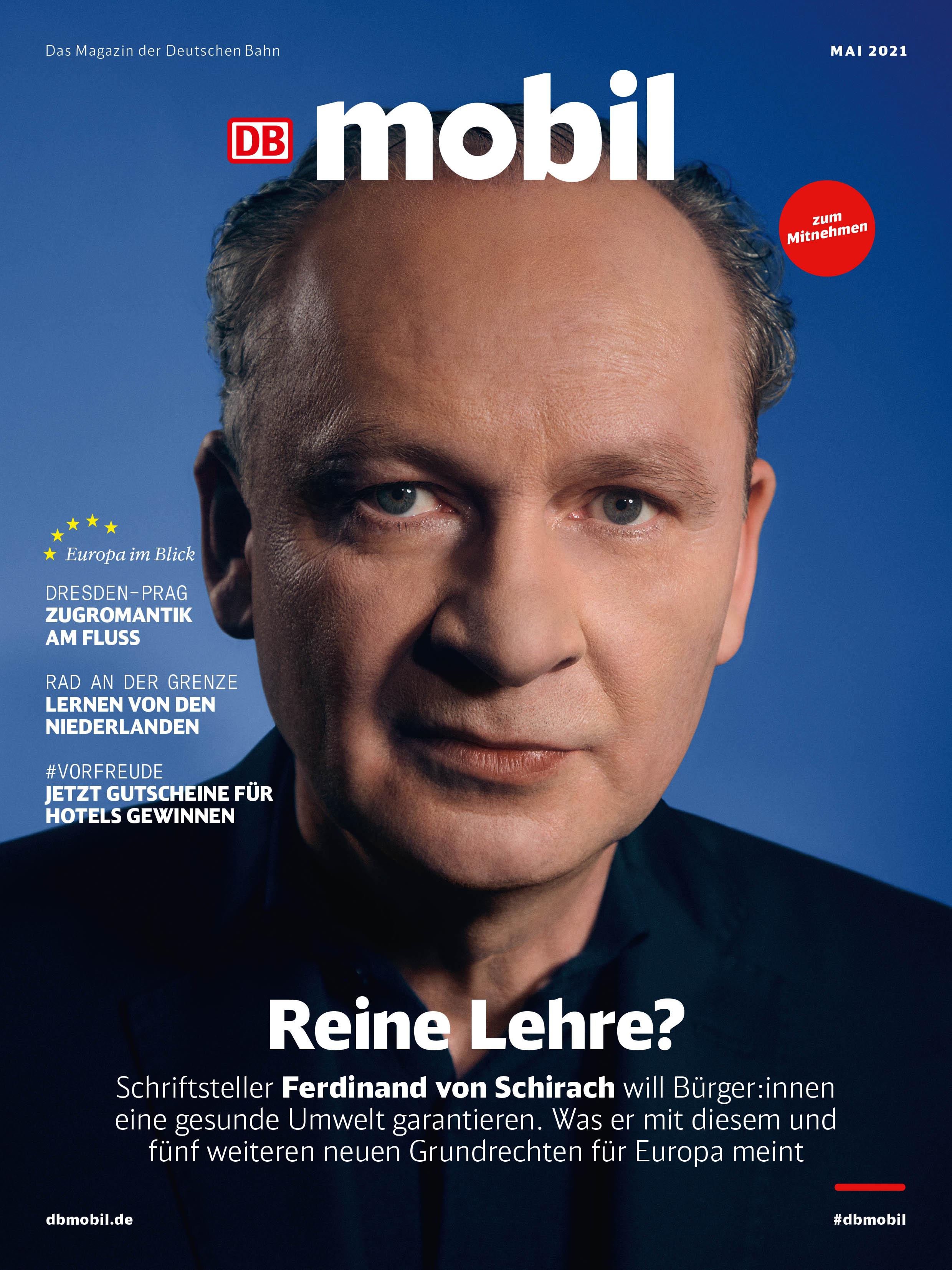 """""""Alles, was ich schreibe und denke, ist europäisch."""" Bestsellerautor Ferdinand von Schirach spricht im Titelinterview mit DB MOBIL über seine Europabegeisterung, Interrailreisen und Berufswechsel"""