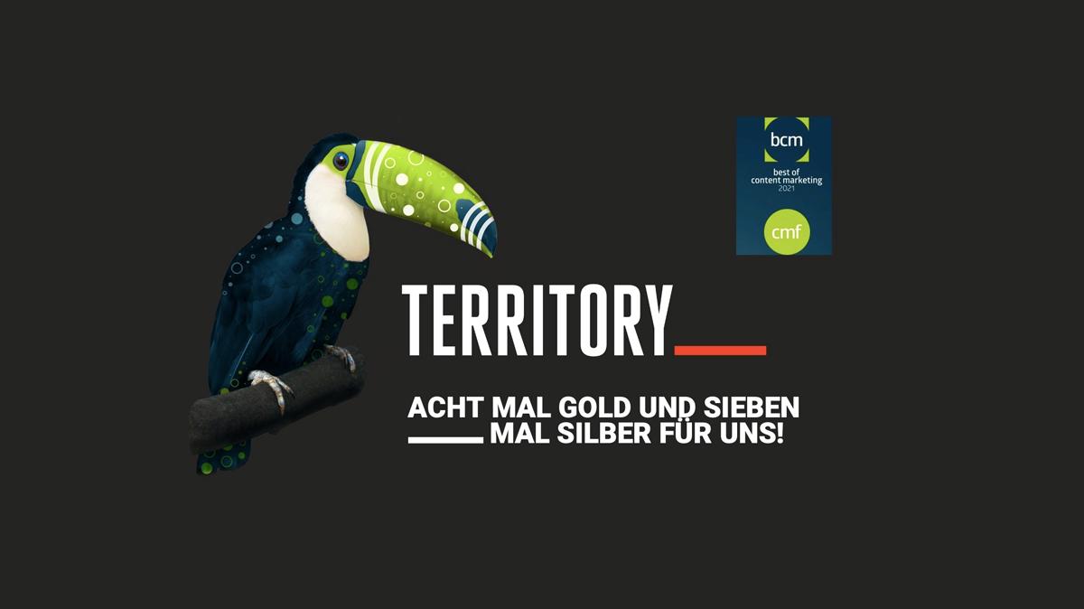 Mehrfacher Preisträger beim BCM Award 2021: TERRITORY gewinnt acht Mal Gold, sieben Mal Silber