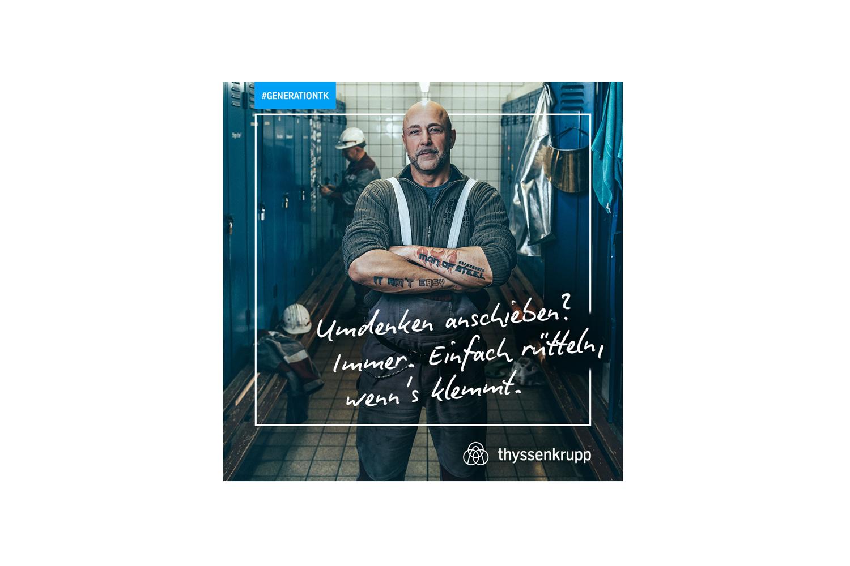 thyssenkrupp und TERRITORY EMBRACE stellen Employer Branding Kampagne #GENERATIONTK vor